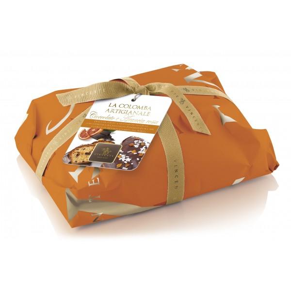 Vincente Delicacies - Colomba Artigianale - Arancia Rossa Candita e Cioccolato Extra Fondente 70% - Classique - Incartata a Mano