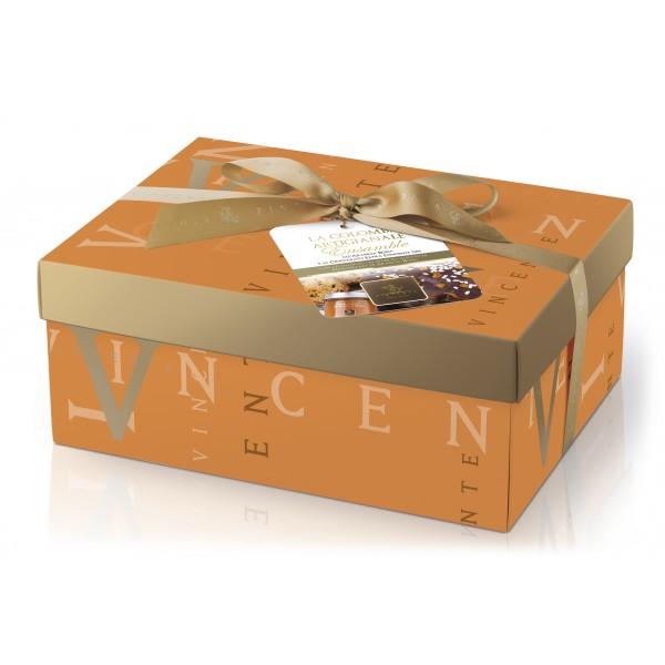 Vincente Delicacies - Colomba Artigianale - Cioccolato Fondente 70% e Marmellata di Arancia Rossa - Ensamble - Pacco Regalo