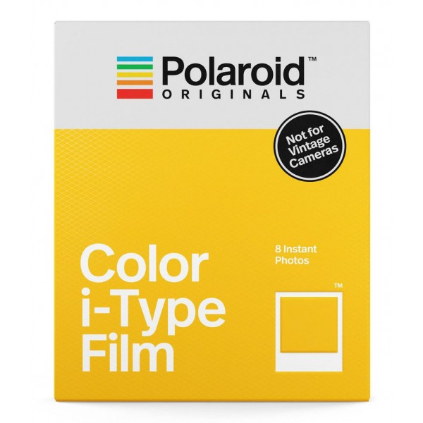 Polaroid Originals - Pellicole Colorate per iType - Frame Bianco Classico - Film per Polaroid Camera i-Type - OneStep 2