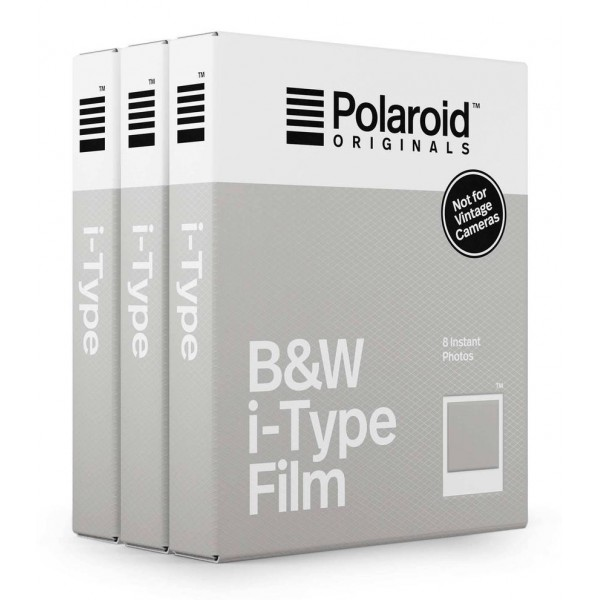 Polaroid Originals - Triple Pack for iType - Classic White Frame - Blackout Film for Polaroid Originals Cameras - OneStep 2