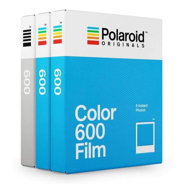 Polaroid Originals - Pacco Triplo Pellicole per 600 - Frame Bianco Classico - Core Film per Polaroid 600 Camera - OneStep 2
