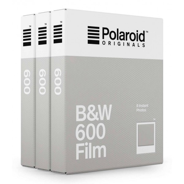 Polaroid Originals - Triple Pack Blackout B&W Film for 600 - Classic White Frame - Film for Polaroid 600 Cameras - OneStep 2