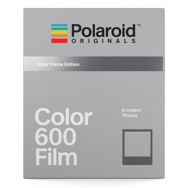 Polaroid Originals - Pellicole Colorate per 600 - Frame Argento - Film per Polaroid 600 Camera - OneStep 2