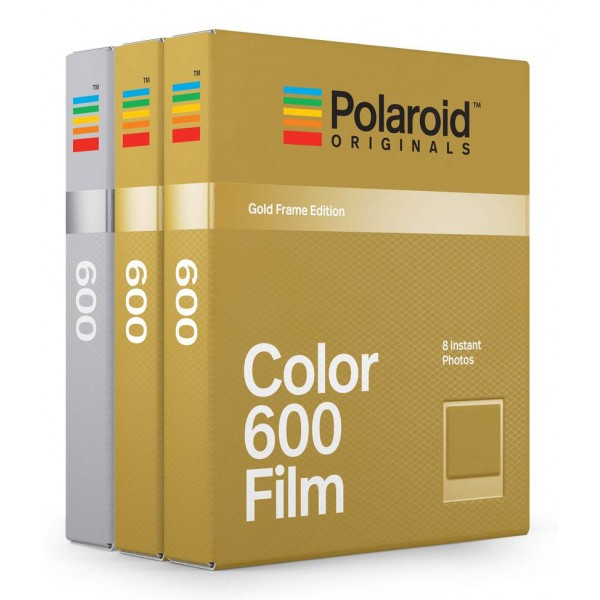 Polaroid Originals - Color Film for 600 - Gold & Silver Frame - Film for Polaroid Originals 600 Cameras - OneStep 2
