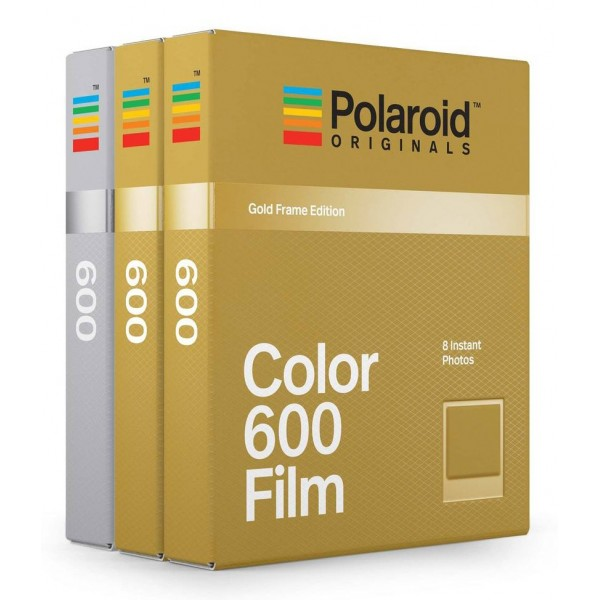 Polaroid Originals - Pellicole Colorate per 600 - Frame Dorato e Argento - Film per Polaroid 600 Camera - OneStep 2