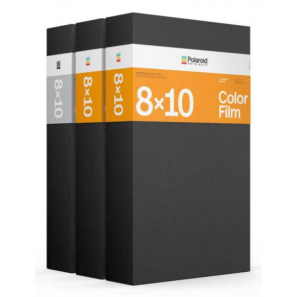 Polaroid Originals - Triple Pack Core Color Film for 8x10 - Black Frame - Film for Polaroid Originals 8x10 Cameras