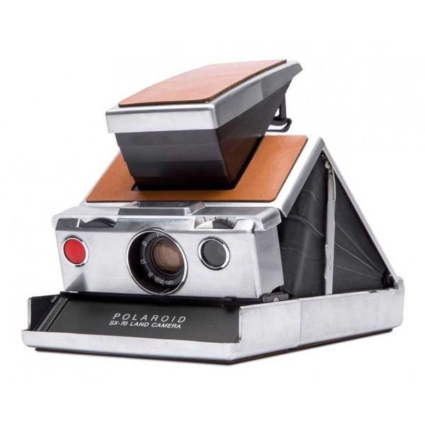 Polaroid Originals - Fotocamera Polaroid SX-70 - Argento Marrone - Fotocamera Vintage - Fotocamera Polaroid Originals
