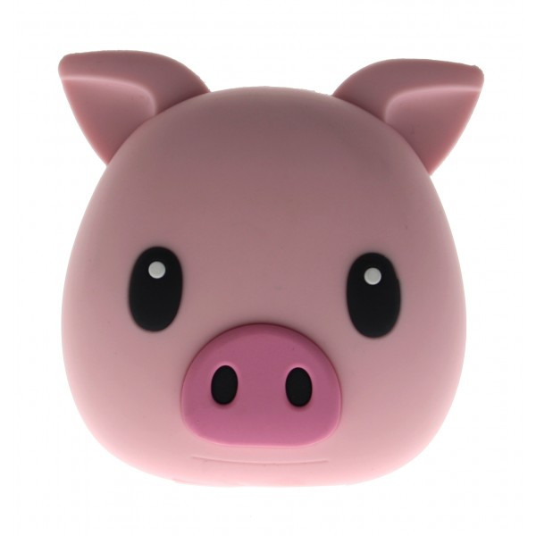 Moji Power - Pig -Piggie - High Capacity Portable Power Bank Emoji Icon USB Charger - Portable Batteries - 5200 mAh