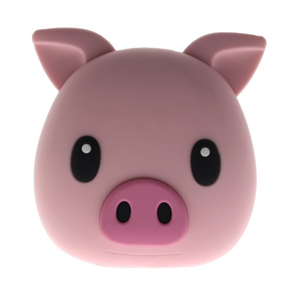 Moji Power - Pig -Piggie - High Capacity Portable Power Bank Emoji Icon USB Charger - Portable Batteries - 5200 mAh