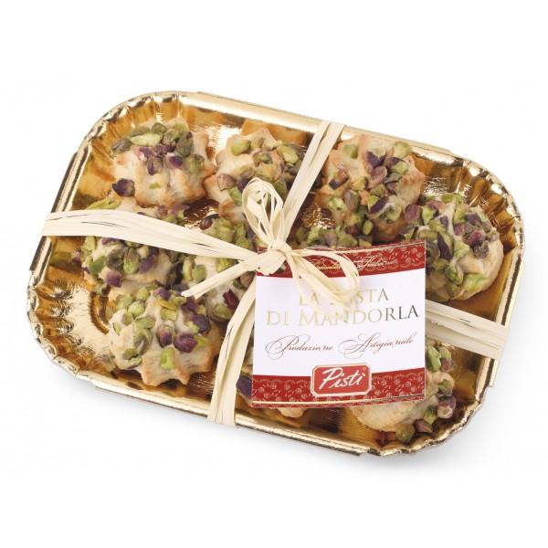 Pistì - Paste di Mandorla Sicilia al Pistacchio - Fine Pasticceria in Vassoio Elegance