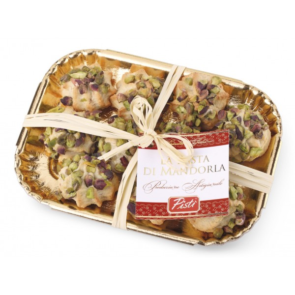 Pistì - Sicilian Almond Paste with Pistachio - Fine Pastry in Elegance Tray