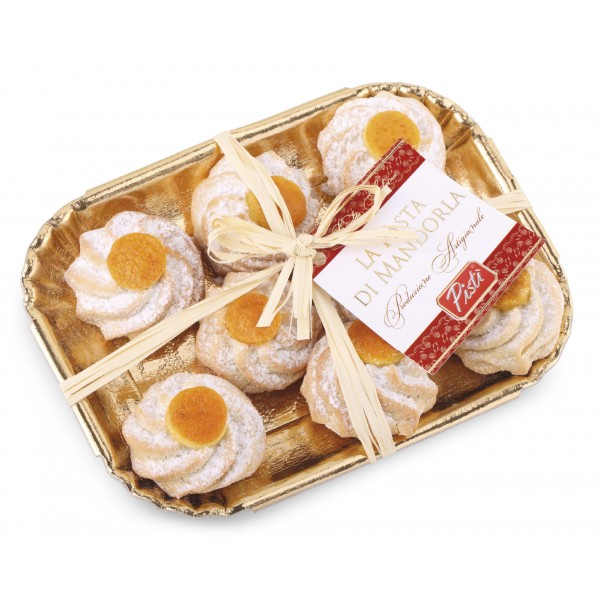 Pistì - Sicilian Almond Paste with Orange - Fine Pastry in Elegance Tray