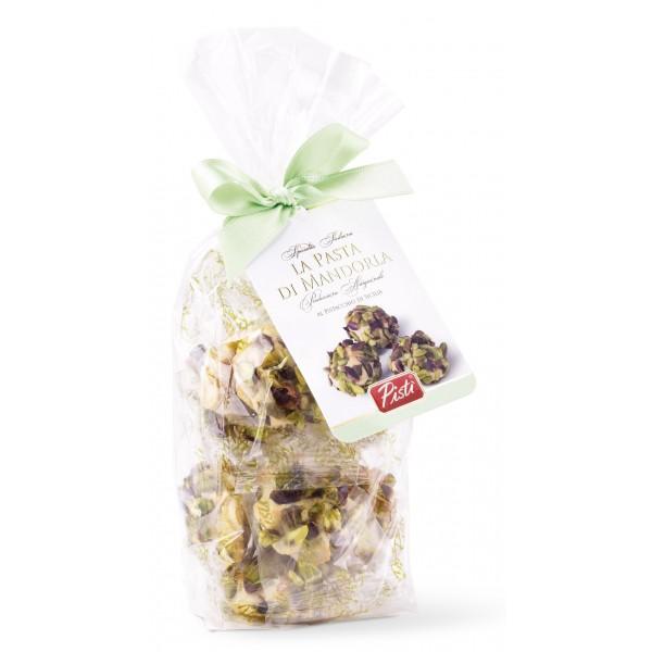 Pistì - Paste di Mandorla Sicilia al Pistacchio - Fine Pasticceria in Busta con Fiocco