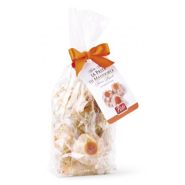 Pistì - Paste di Mandorla Sicilia all'Arancia - Fine Pasticceria in Busta con Fiocco