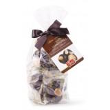 Pistì - Pasta di Mandorla Classica Ricoperta di Cioccolato Fondente Extra - Fine Pasticceria in Busta con Fiocco