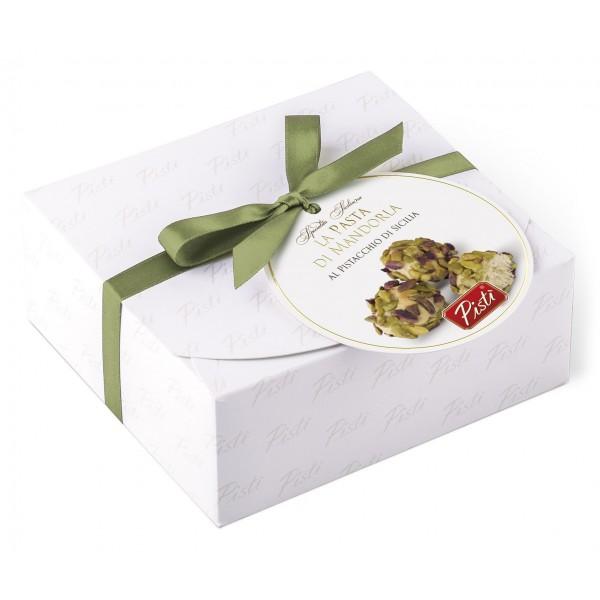 Pistì - Paste di Mandorla Sicilia Assortite - Classiche al Pistacchio - Fine Pasticceria in Cofanetto Regalo