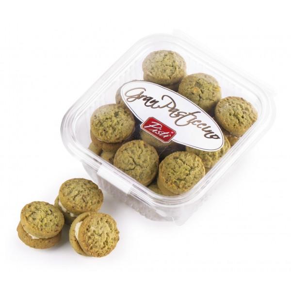 Pistì - Kuki - Paste di Mandorla di Sicilia al Pistacchio Ripieni di Cioccolato Bianco - Fine Pasticceria in Vaschetta