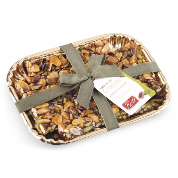 Pistì - Pieces of Crunchy with Sicilian Pistachio - Fine Pastry in Elegance Tray