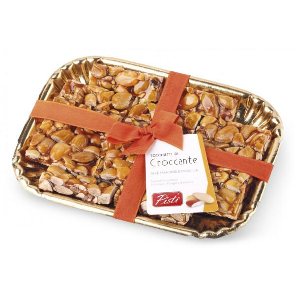 Pistì - Crunchy Pieces with Sicilian Almond - Fine Pastry in Elegance Tray