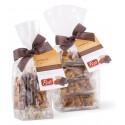 Pistì - Tocchetti di Croccante alle Mandorle di Sicilia al Cioccolato Fondente - Fine Pasticceria in Busta con Fiocco - 100 g