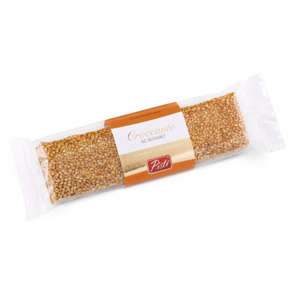 Pistì - Tocchetti di Croccante al Sesamo di Sicilia - Fine Pasticceria in Flow Pack