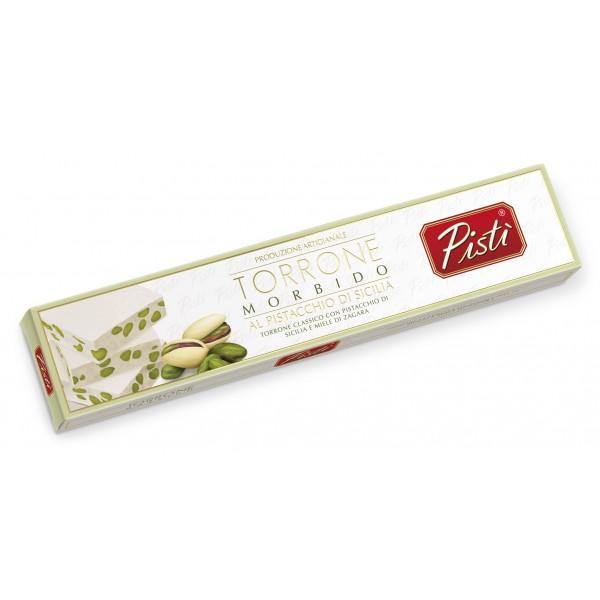 Pistì - Stecca di Torrone Morbido alla Pistacchio di Sicilia - Fine Pasticceria in Astuccio - 150 g