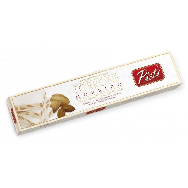 Pistì - Stecca di Torrone Morbido alla Mandorla di Sicilia - Fine Pasticceria in Astuccio - 100 g