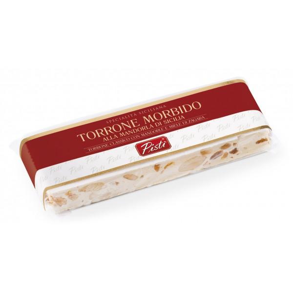 Pistì - Stecca di Torrone Morbido alla Mandorla di Sicilia - Fine Pasticceria in Flow Pack