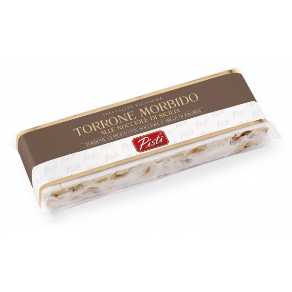 Pistì - Stecca di Torrone Morbido alla Nocciola di Sicilia - Fine Pasticceria in Flow Pack