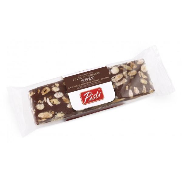 Pistì - Fetta di Torrone Morbido al Cioccolato Modicano di Sicilia - Fine Pasticceria in Flow Pack