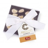 Pistì - Cioccolato Quadrotto - Cioccolato Fondente con Mandorle Intere - Fine Pasticceria in Confezione Regalo Blanca