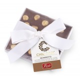 Pistì - Cioccolato Quadrotto - Cioccolato al Latte con Nocciole Intere - Fine Pasticceria Incartata a Mano