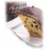 Pistì - Panettone Artigianale al Cioccolato Ricoperto di Cioccolato Fondente 70% - Panettone Artigianale Incartato a Mano