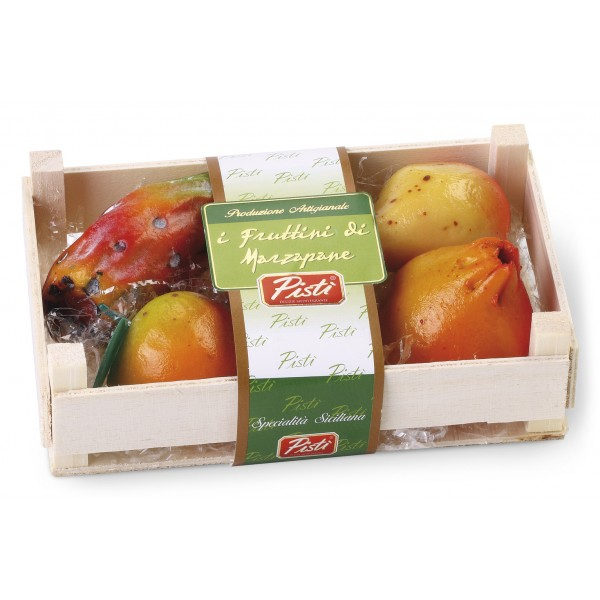 Pistì - La Frutta Martorana - Un Must della Dolcezza Siciliana - I Frutti di Marzapane - In Cassettina di Legno