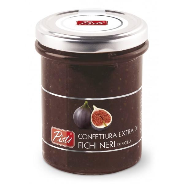 Pistì - Marmellata Extra di Fichi Neri - Marmellate e Confetture di Sicilia - In Vasetto di Vetro Premium