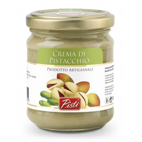 Pistì - Pistachio Cream Spread - Bronte Sicily - Artisan Cream - In Basic Glass Jar