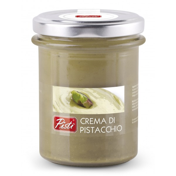 Pistì - Crema Spalmabile al Pistacchio - Bronte Sicilia - Crema Artigianale - In Vasetto di Vetro Premium - 200 g