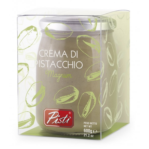 Pistì - Crema Spalmabile al Pistacchio - Bronte Sicilia - Crema Artigianale - Magnum in Vasetto di Vetro Premium
