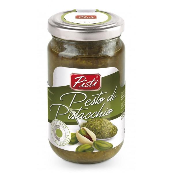 Pistì - Pesto di Pistacchio Spalmabile - Bronte Sicilia - Pesto Artigianale - In Vasetto di Vetro Basic - 190 g