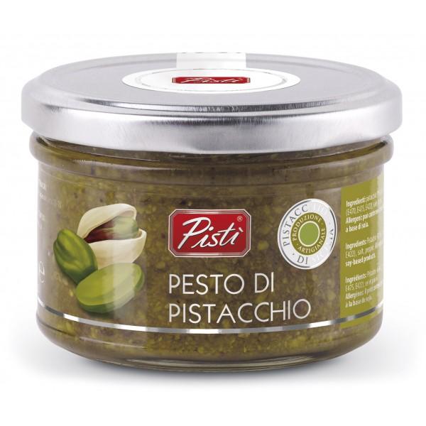 Pistì - Pesto di Pistacchio Spalmabile - Bronte Sicilia - Pesto Artigianale - In Vasetto di Vetro Basic - 150 g