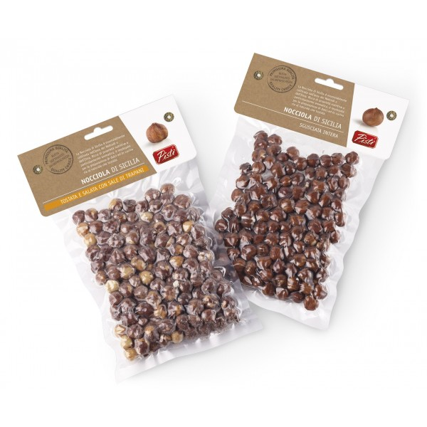 Pistì - Pistacchio di Sicilia Tostato e Salato - Bronte Sicilia - Frutta Secca Artigianale - Busta Sottovuoto