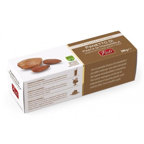 Pistì - Panetto di Pasta di Mandorla di Sicilia per Bevande e Granite - Bronte Sicilia - Artigianale - Astuccio