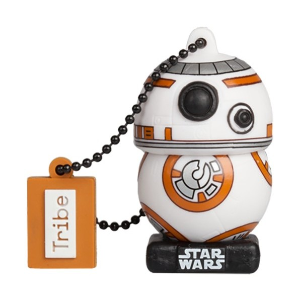Tribe - BB-8 TLJ - Star Wars - L'Ultimo Jedi - Chiavetta di Memoria USB 16 GB - Pendrive - Archiviazione Dati - Flash Drive