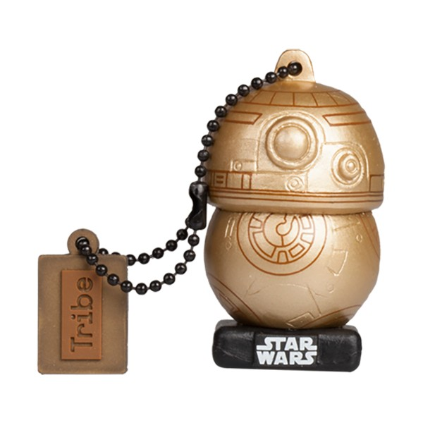 Tribe - BB-8 TLJ Gold - Star Wars - L'Ultimo Jedi - Chiavetta di Memoria USB 16 GB - Pendrive - Archiviazione Dati - Flash Drive