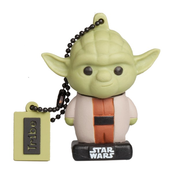 Tribe - Yoda - Star Wars - The Last Jedi - USB Flash Drive Memory Stick 16 GB - Pendrive - Data Storage - Flash Drive