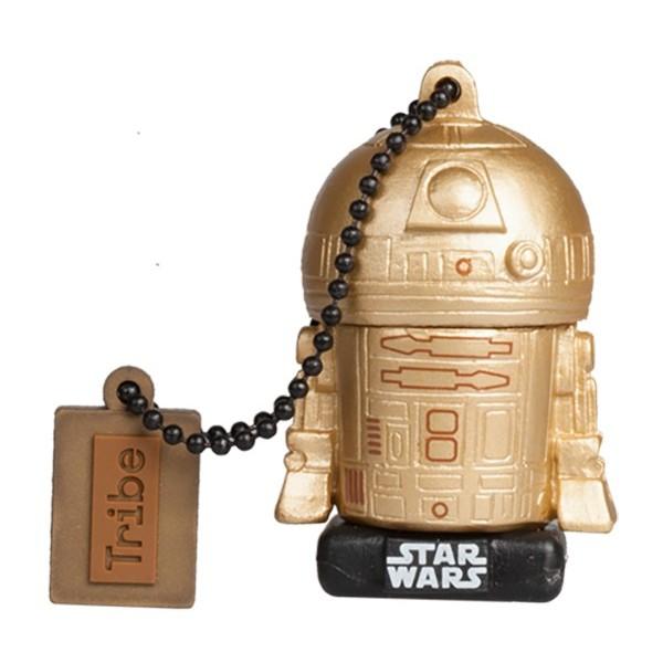Tribe - R2-D2 Gold - Star Wars - L'Ultimo Jedi - Chiavetta di Memoria USB 16 GB - Pendrive - Archiviazione Dati - Flash Drive