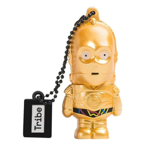 Tribe - C-3PO - Star Wars - The Force Awakens - USB Flash Drive Memory Stick 16 GB - Pendrive - Data Storage - Flash Drive
