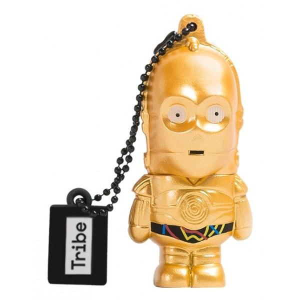 Tribe - C-3PO - Star Wars - Il Risveglio della Forza - Chiavetta Memoria USB 8 GB - Pendrive - Archivio Dati - Flash Drive