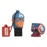 Tribe - Captain America - Marvel - Chiavetta di Memoria USB 16 GB - Pendrive - Archiviazione Dati - Flash Drive