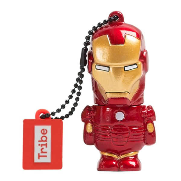 Tribe - Iron Man - Marvel - Chiavetta di Memoria USB 16 GB - Pendrive - Archiviazione Dati - Flash Drive